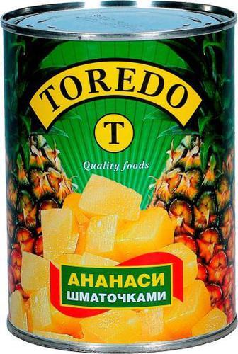 Ананас Торедо консер шматочками 580г