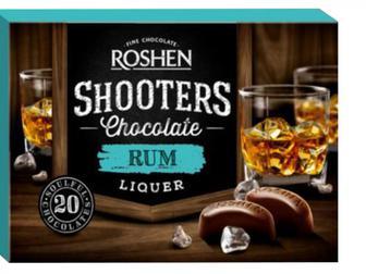 Цукерки Shooters з ромовим лікером, Рошен,  150 г