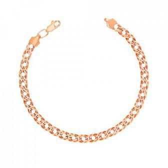 Золотой браслет с алмазной гранью. Артикул 77970/1