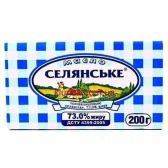 Масло 70% солодковершкове Селянське Селянське 200 г