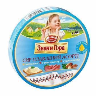Сыр плавленый порционный Ассорти Звени Гора, 140г