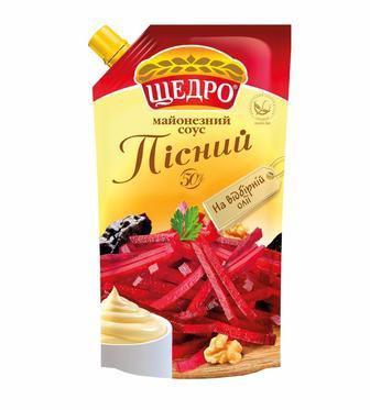 Майонезний соус Пісний Щедро 350г