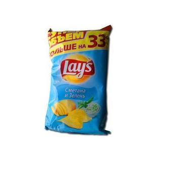 Чіпси картопляні Сметана і зелень або Краб Lay's 200 г