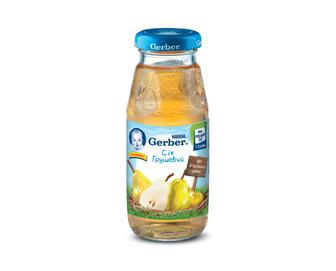 Сік Gerber, з вітаміном С, без додавання цукру грушевий, 175 г