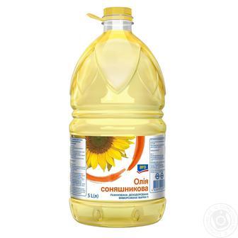 Олія соняшникова рафінована, ARO, 5Л