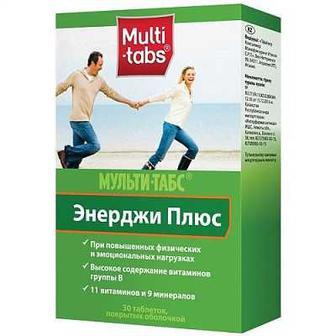 Диетическая добавка с витаминами и минералами Мульти-табс Энерджи 30табл.