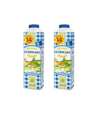 Молоко питне пастеризоване 1,5% Селянське 950г