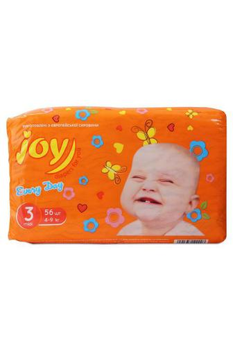 Подгузники Joy Every Day р3 4-9 кг 56 штт