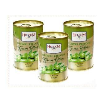 Оливки зелені з кісточкою Helcom 280г
