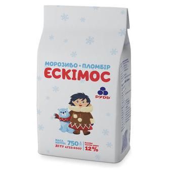Морозиво Ескімос пломбір Рудь 750г