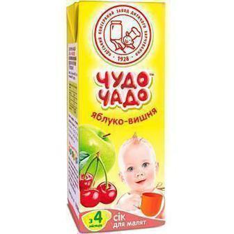 Сок Чудо-Чадо яблочно-вишневый (с 4 месяцев) 200 мл