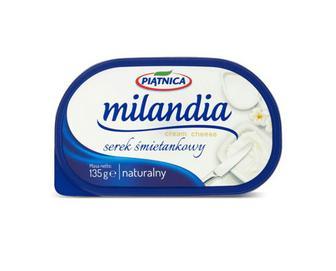 Скидка 37% ▷ Сир Piatnica Milandia вершковий натуральний 71% жиру, 135 г
