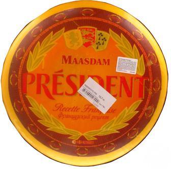 Сир Президент Мааздам твердий голова, 48%,1 кг