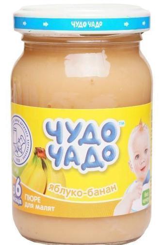 Пюре Чудо-Чадо из яблок и банана без сахара 170 г