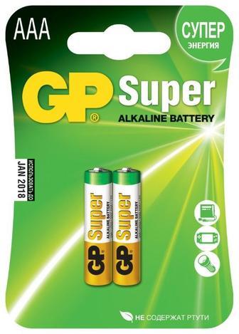 Батарейки GP 24A-U2  Лугова L03 AAA 2 шт