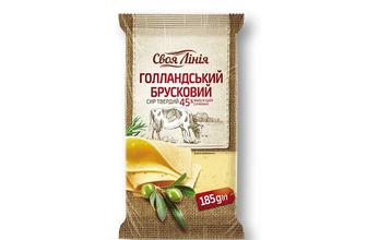 Сир твердий «Гoлландський», 45% Свoя Лінія 185 г