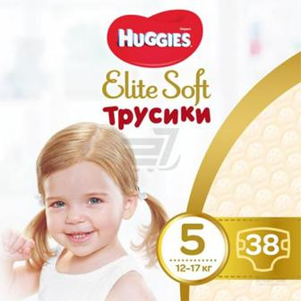 Підгузки-трусики Huggies Elite Soft Mega 5 12-17 кг 38 шт.