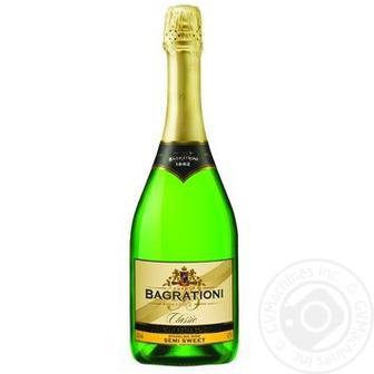 Шампанське біле напівсолодке  Bagrationi  0,75л