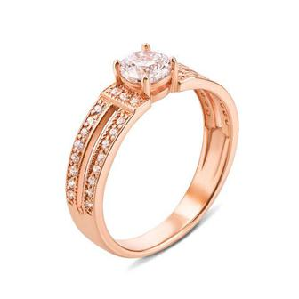 Золотое кольцо с фианитами Swarovski Zirconia. Артикул 12148/SW