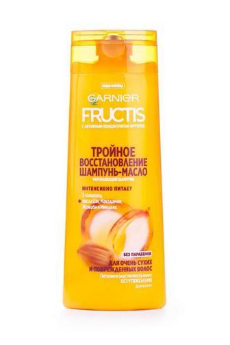 Шампунь-масло FRUCTIS для очень сухих та поврежденных волос Тройное Восстановление 250мл