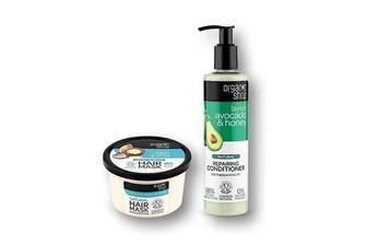 Маска/ Кондиціонер для волосся Moroccan, з аргановою олією та екстрактом амли/ Lavish Avocado&Honey, з олією авокадо та медом Organic Shop 250/280 мл