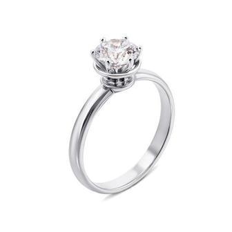 Золотое кольцо с фианитом Swarovski Zirconia. Артикул 12320/б SW