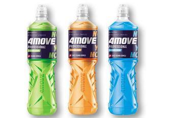 Напій зі смаком апельсину/ лайму та м'яти/ мультифруктовий/ соковий, ізотонічний, негазований 4MOVE 0,75 л
