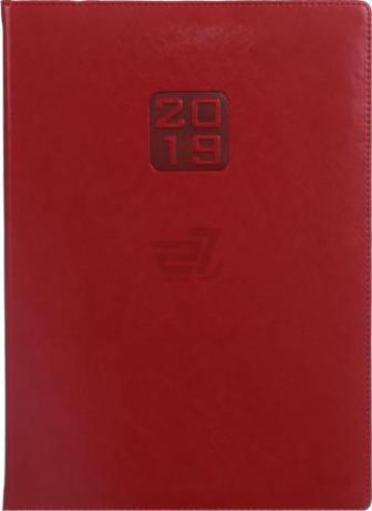 Щоденник 2019 Bravo Soft A4 336 страниц червоний Buromax