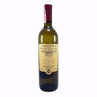 Вино Алазанська долина напівсолодке Заря Кахеті 0,75 л