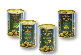 Оливки з лимоном/ тунцем/ креветками/ без кісточки «Своя Лінія» Іспанія - 280 г