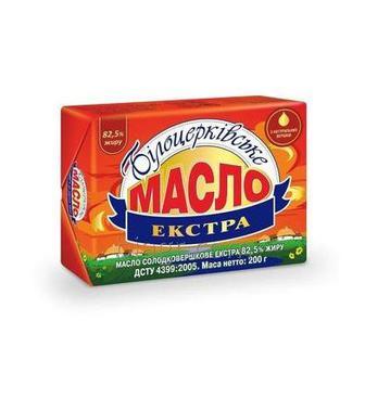 Масло солодковершкове Екстра 82,5% Білоцерківське 200г