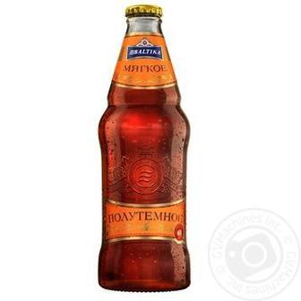 Пиво «М'яке» світле або напівтемне Балтика 0,44 л