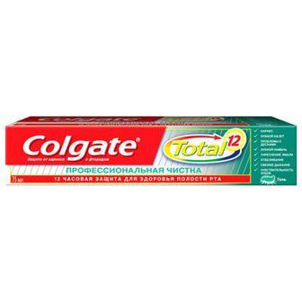 Зубна паста Colgate Total12 професійна чистка 75мл