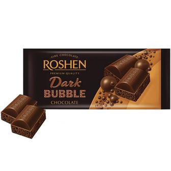 Шоколад Roshen пористий екстрачорний 85г