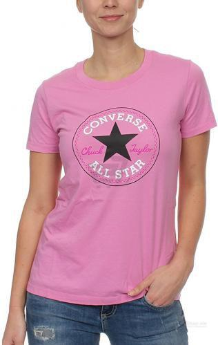 Футболка Converse CORE SOLID CHUCK PATCH CREW 10001124-523 XS рожевий