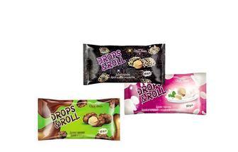 Драже горіхове Drops&Roll арахіс у цукрі/у цукровій глазурі з ароматом йогурту/ у цукрі з кунжутом Своя Лінія 50 г