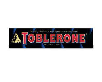 Шоколад Toblerone чорний із нугою з меду та мигдалю, 100 г