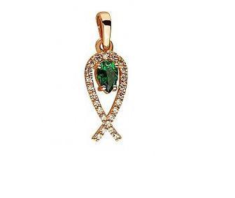 Золотое кольцо Дорожка с фианитами Артикул 15-000068495