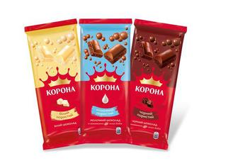 "Шоколад ""Корона"" пористий, 80г"