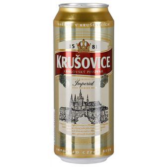 Пиво Krusovice светлое фильтрованное пастеризованное 4,2% ж/б 0,5л