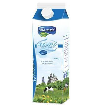 Молоко Гармония Мгарское пастеризованное 2.5% 900г