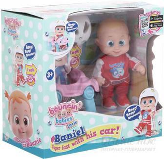 Лялька Bouncin' Babies Baniel з машинкою