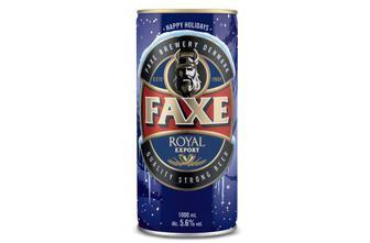 Пиво Faxe Royal Export світле фільтроване,  1 л