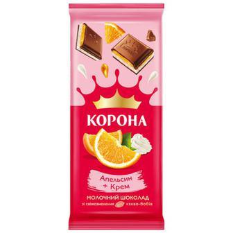 Скидка 22% ▷ Шоколад Корона апельсин-крем 85г
