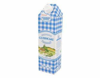 Молоко 2,5% Селянське 950г