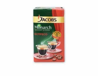 Кава Monarch Espresso, мелена  Jacobs   230 г