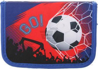 Пенал шкільний М'яч 19,5x13x4 см різнокольоровий