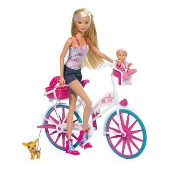 Кукла Штеффи с малышом на велосипеде Simba (5739050)