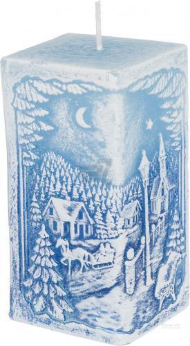 Свічка Зимовий краєвид з діодом 7x14 см Bartek Candles