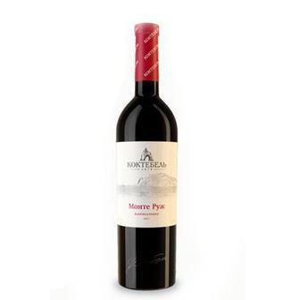 Вино червоне Монте Руж біле Монте Блан напівсолодке Коктебель 0,75л